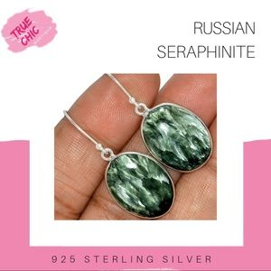 Russian Seraphinite Earrings & PENDANT